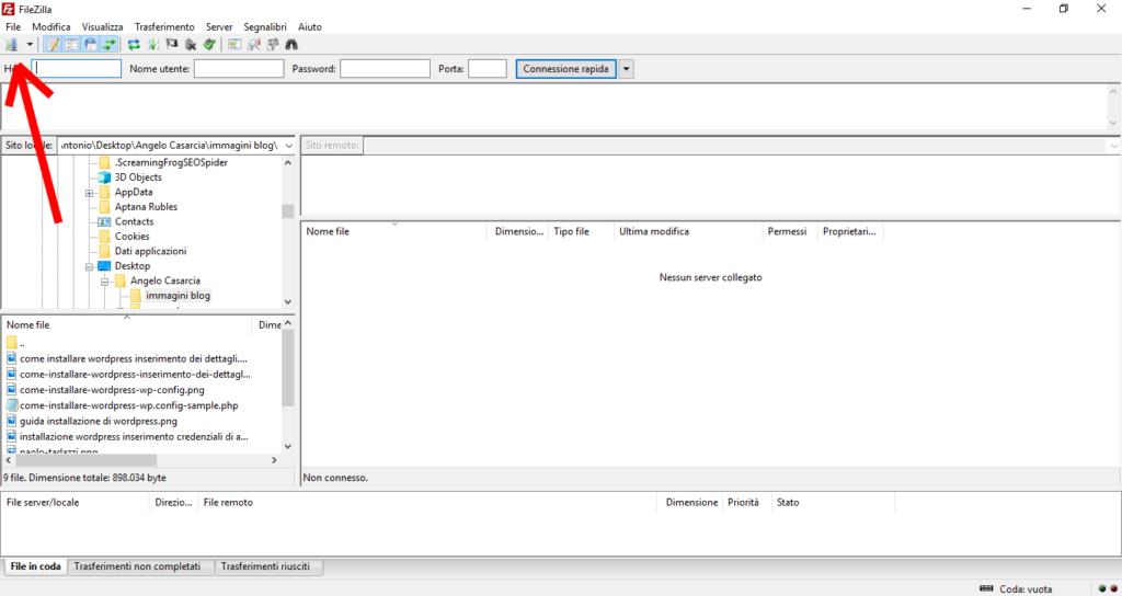 come-configurare-wordpress-su-file-zilla