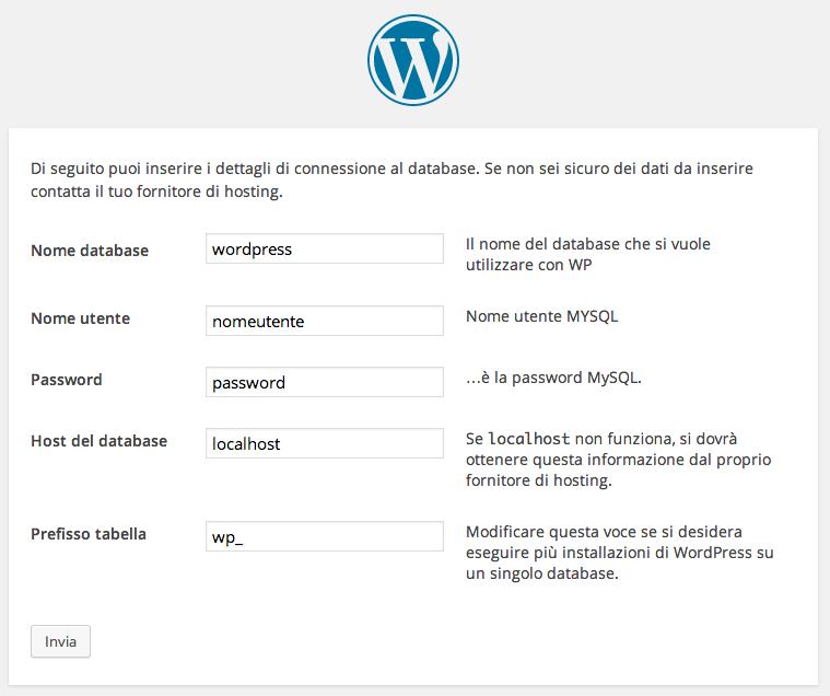 guida installazione di wordpress