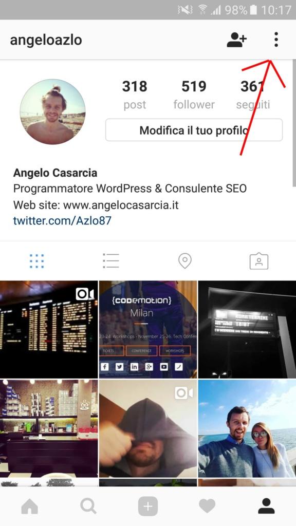 come-inserire-pulsante-contatta-su-intastagram-profilo-social-media-management-angelocasarcia-it