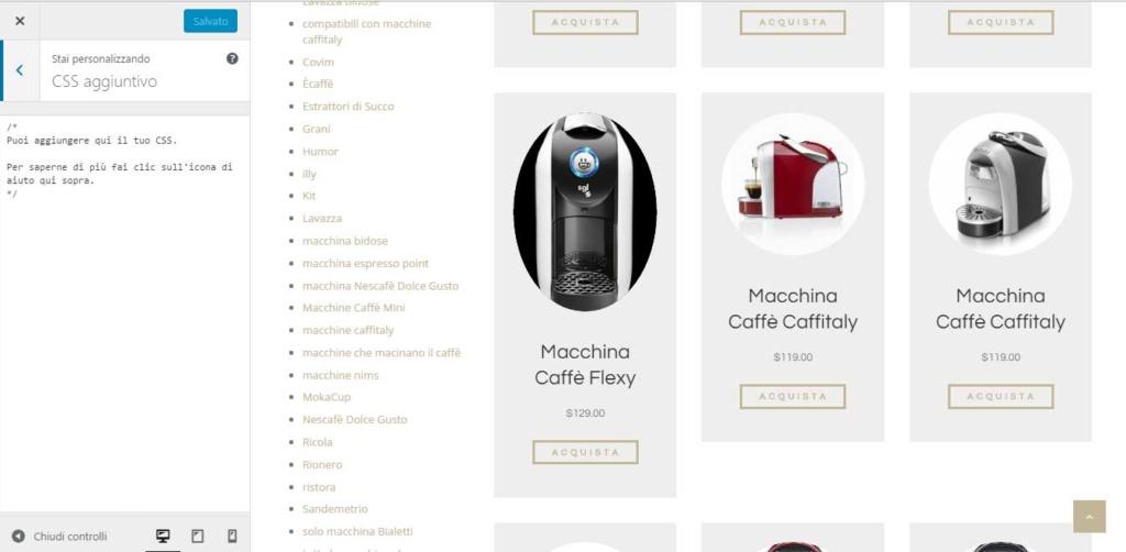 Aggiornamento WordPress 4.7 Vaughan modica css tramite personalizza