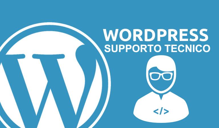Sesta categoria chiave: supporto tecnico WordPress.