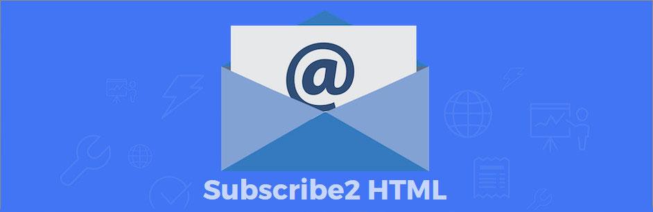 Logo di Subscribe2 HTML.