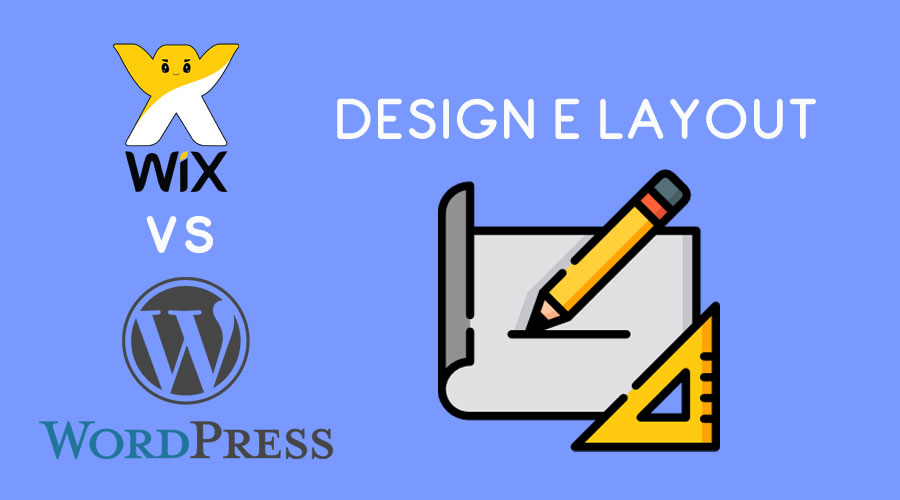 Wix vs WordPress : design e layout
