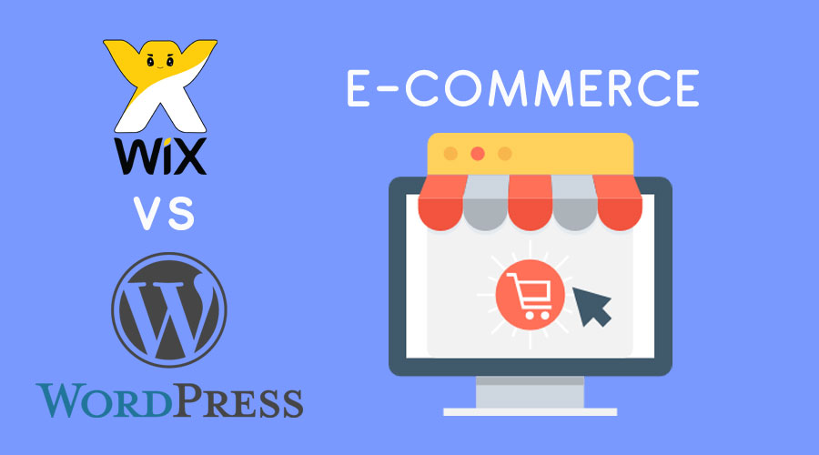 Wix vs WordPress : e-commerce