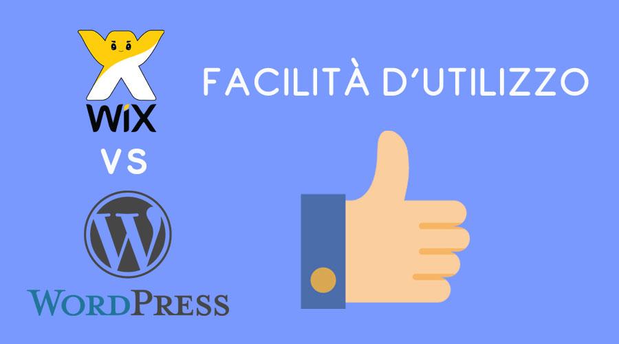 Wix vs WordPress : facilità d'utilizzo