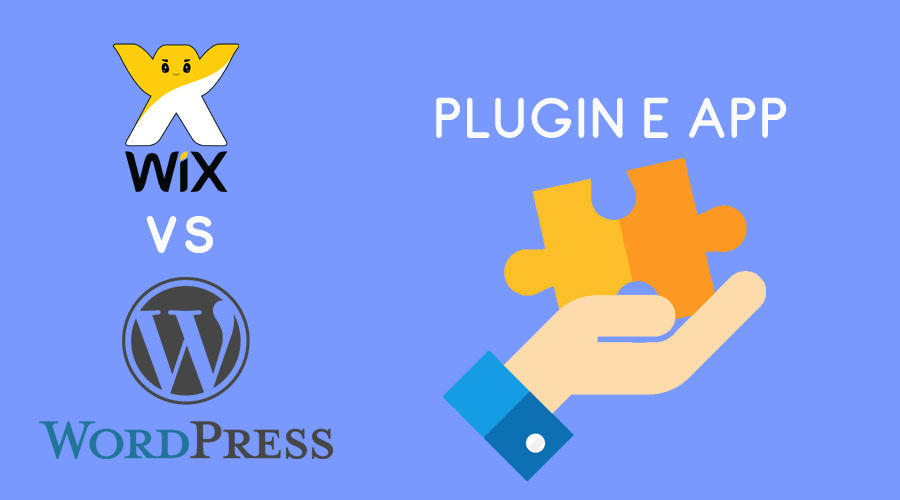 Wix vs WordPress : plugin e app