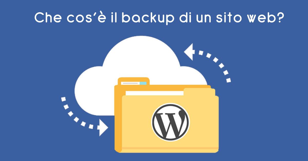 Che cos'è il backup di un sito web?