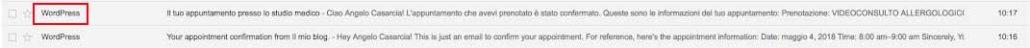 Cambiare mittente WordPress nelle email