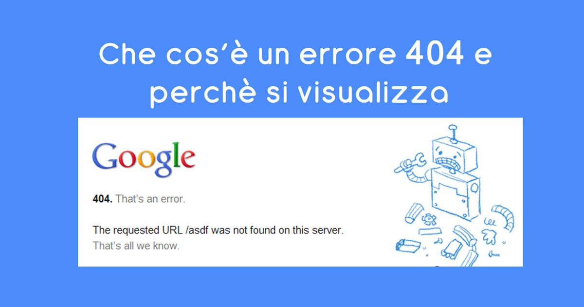 Errore 404
