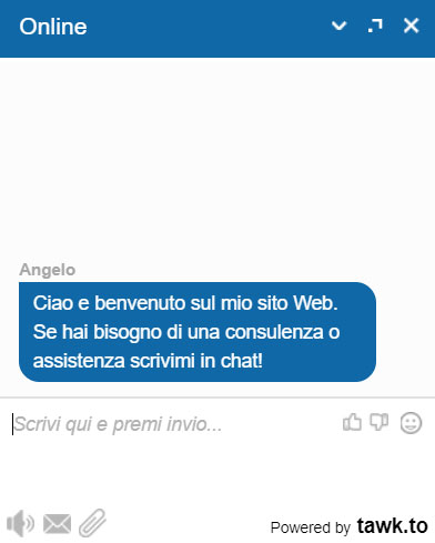 Live Chat angelocasarcia.it