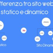 Differenza tra sito web statico e dinamico
