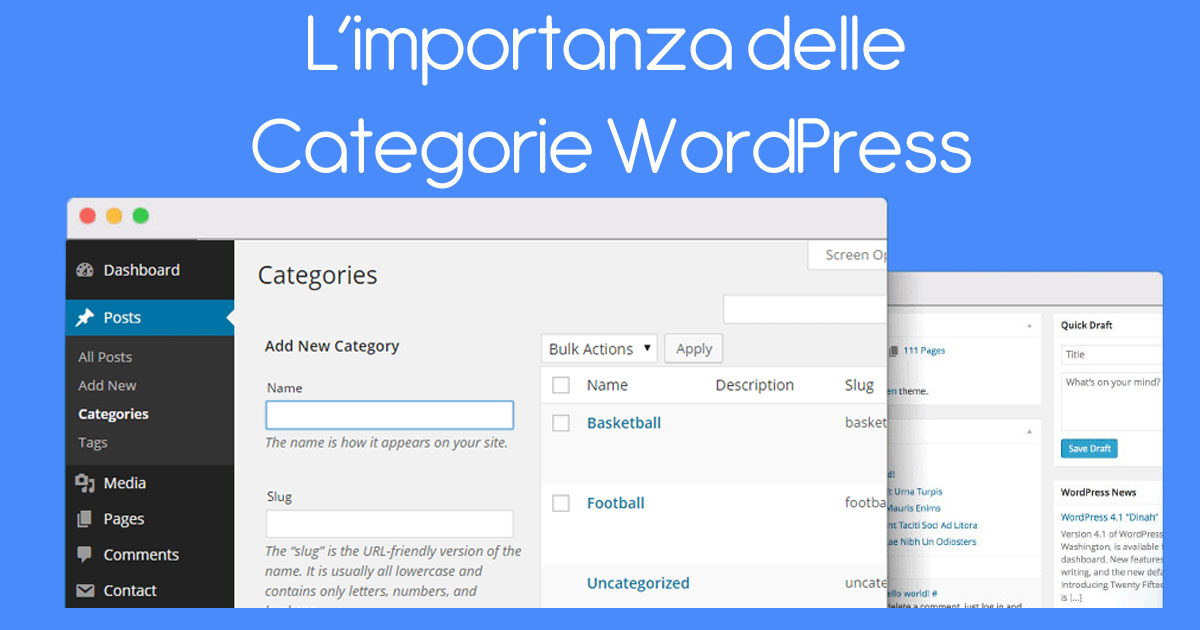 L'importanza delle Categorie WordPress